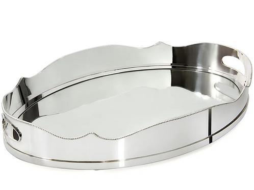 109925 Bandeja louise oval 59X38cm  com espelho