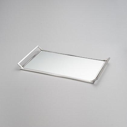89379 Bandeja Mirror com alças e espelho 40x20cm