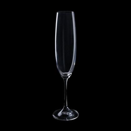 111876 Jogo 06 taças champanhe Titânio Barbara