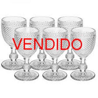 103964 - Jogo 06 taças bico de jaca transparente 300ml