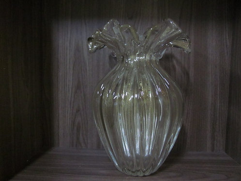 100371 Vaso com ouro transparente
