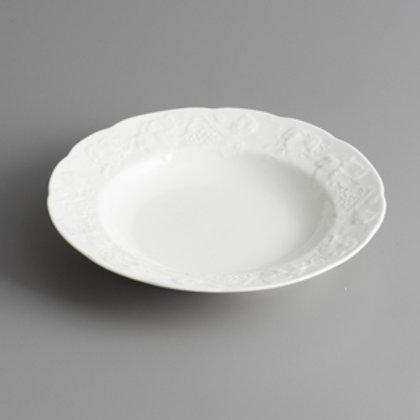 102637 Jg. 6 pratos fundo de porcelana vendange