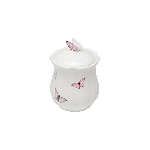 96006 Pote cerâmica c/ tampa borboletas 660ml