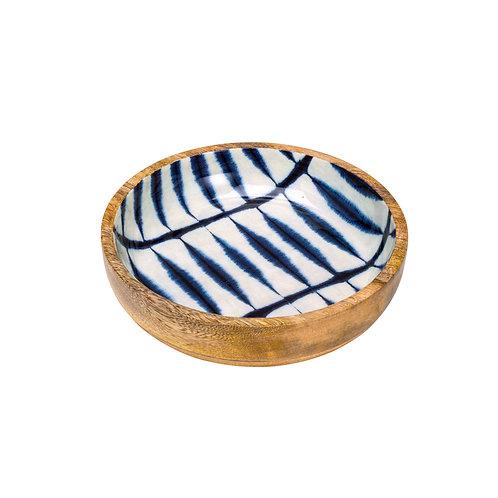 124552 Bowl de madeira blue