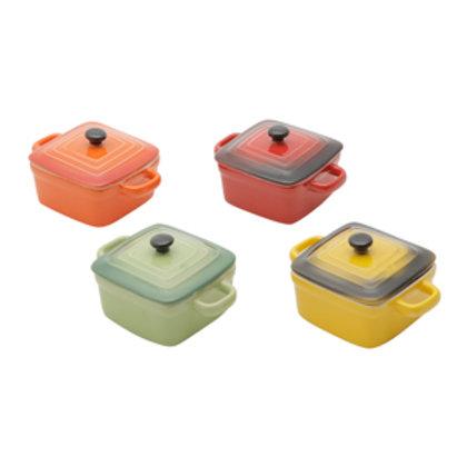 117516 Jogo 04 mini panelas quadradas coloridas