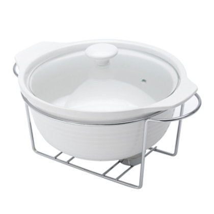 106900 Rechaud redondo branco 30,5x29cm