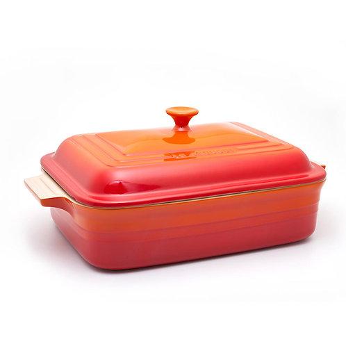 36775 Travessa retangular com tampa Le Creuset laranja