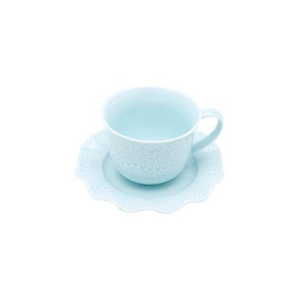 110683 Jogo 06 xicaras para chá Princess azul