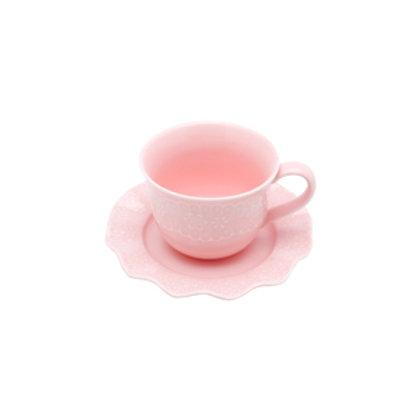 110681 Jogo 06 xicaras de chá princess rosa