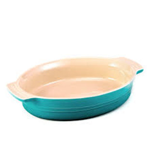 104830 Travessa oval azul caribe 36cm Le Creuset