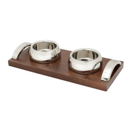 114314 Bandeja com 02 bowls bamberg