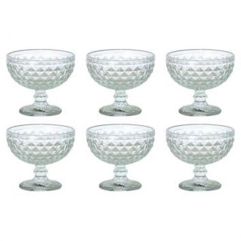 90268 Jg 6 taças para sobremesa bico de jaca clear verre