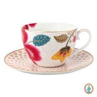 105449 Xícara de chá branco floral fantasy pip (und)