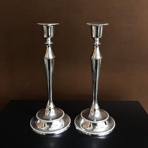 108362 Par castiçal de prata
