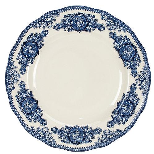 107523 Jogo 06 prato raso 28cm English Blue