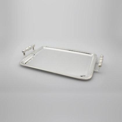 94105 Bandeja Perola 42x33cm prata