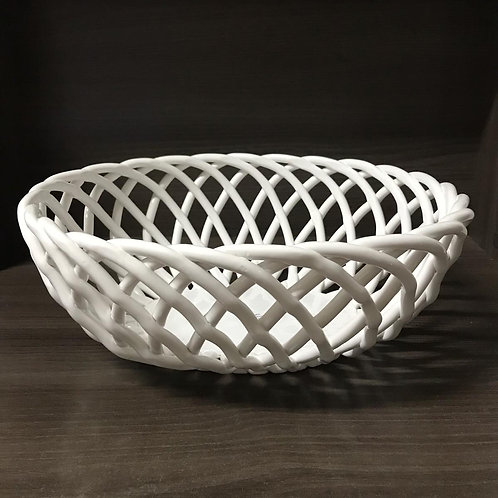 120224 Cesto de ceramica branco