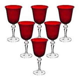 106656 Jogo 06 taças vinho tinto Laura