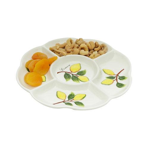 124576 Petisqueira de cerâmica lemons