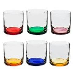 106849 Jogo 06 copos Barware colorido 320ml
