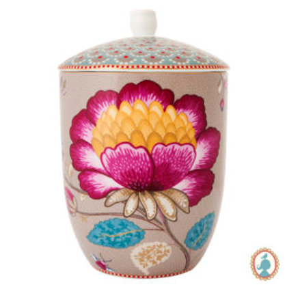 105433 Pote caqui floral