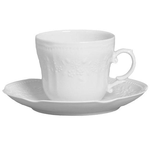 31833 Jg 6 xícaras chá com píres Mozart