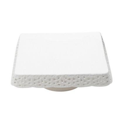 101660 Prato para bolo porcelana rendado