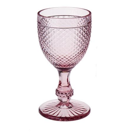 96625 Jg 6 taças água bico de jaca rosa