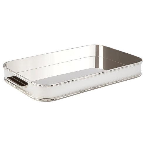 127553 Bandeja de prata retangular 44x28cm perola