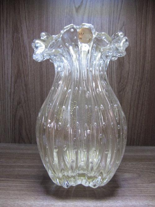 103233 Vaso com ouro transparente M