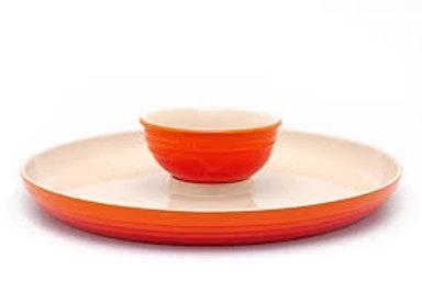 52531 Prato para aperitivo Le Creuset laranja