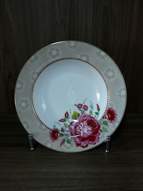 115881 Prato de sopa rose caqui