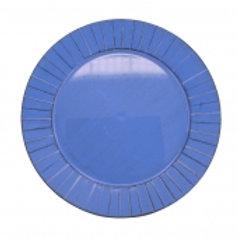 107138 Sousplat azul 33x2cm (und)