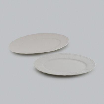 105399 Jogo 02 pratos ovais Cream