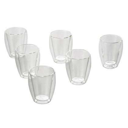 100598 Jg 6 copos para chá dupla parede borosilicato 240ml