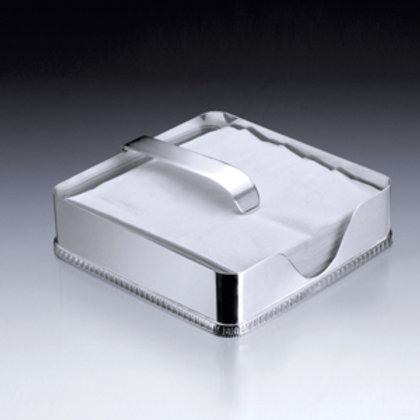 105696 Porta guardanapos Paris prata 18x18cm