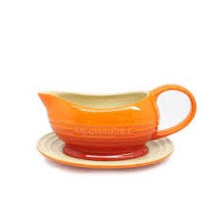 48600 Molheira com pires Le Creuset laranja