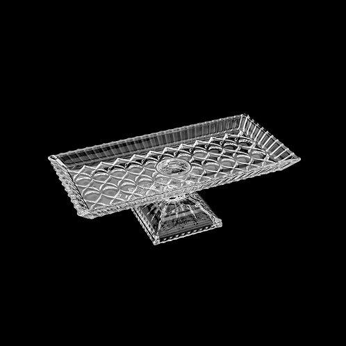 123609 Prato p/ bolo angel cristal 34x17x11cm