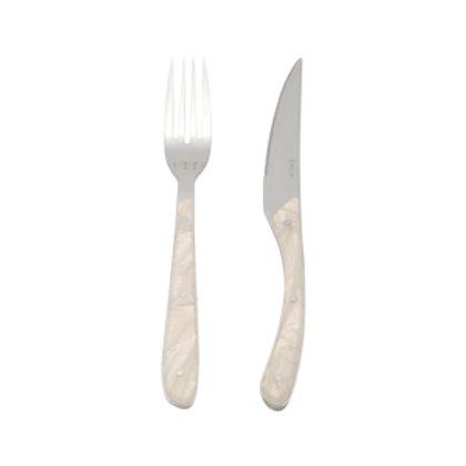 95720 Jogo 06 facas e garfos para churrasco Ivory