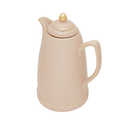 125187 Garrafa térmica porcelana rosa 28cm 900ml