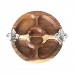 112375 Petisqueira em madeira 28,5cm