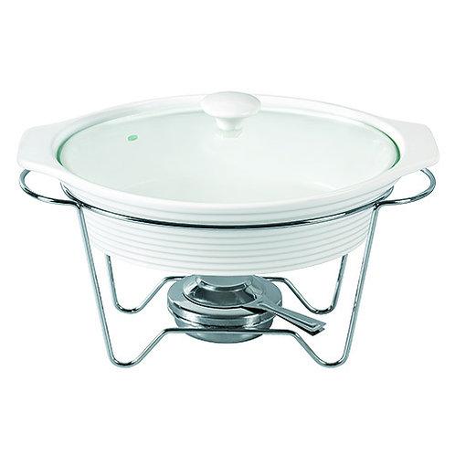 105346 Rechaud porcelana oval com queimador 38cm