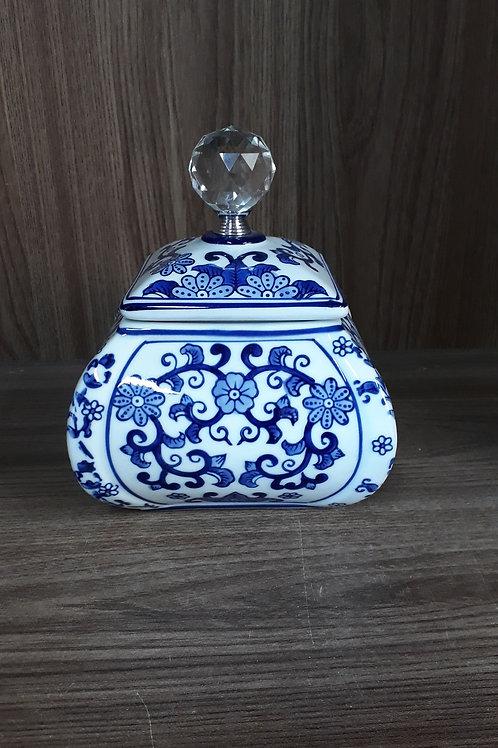 112907 Pote porcelana com tampa