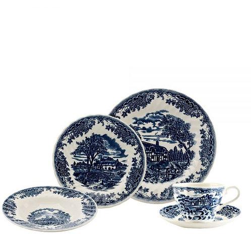109403 Aparelho de jantar e chá Blue