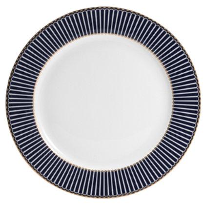 106004 Jogo 06 pratos de jantar Cobalto com dourado