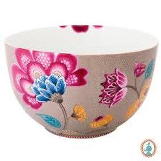 105438 Tigela 23cm caqui floral fantasy pip studio