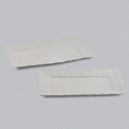 105668 Jogo 02 pratos retangulares Cream
