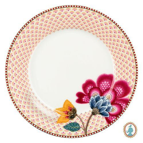 105448 prato de sobremesa branco floral fantasy pip studio