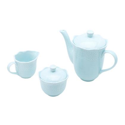 110680 Jogo 03pçs para café Princess azul