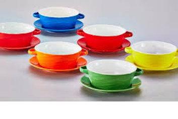 112341 Jogo 06 bowls para sopa Mary